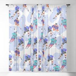 Ice Hockey print 001 Sheer Curtain