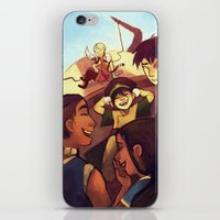 zuko iPhone & iPod Skins featuring we will be together for a long time by shelbycragg