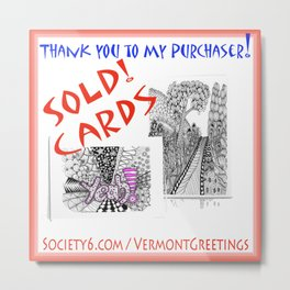 SOLD 2 card sets - thanks to my buyer! Metal Print