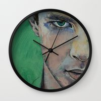 street fighter Wall Clocks featuring Fighter by Michael Creese