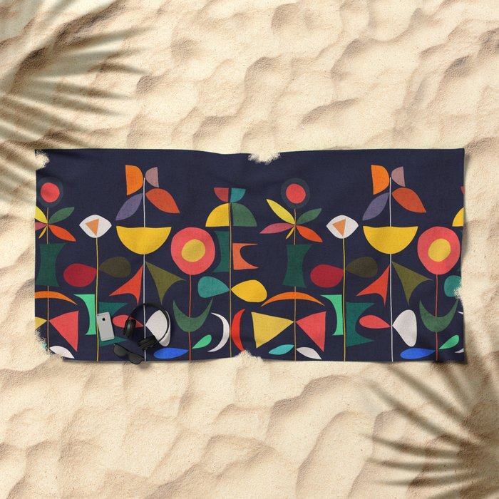 Klee's Garden Beach Towel