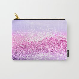 Pink Purple MERMAID Girls Glitter #1 #shiny #decor #art #society6 Carry-All Pouch