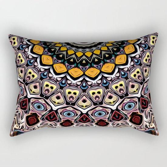 Colorful Balance of Shapes Rectangular Pillow
