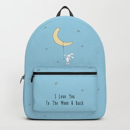 I Love You To The Moon And Back - Blue Backpack