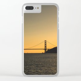 Golden Gate From The Sea Clear iPhone Case