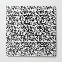 Skull Wall Metal Print