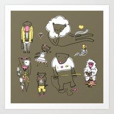 Los Amigos Art Print
