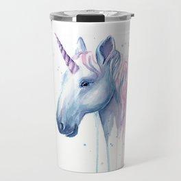 Blue Pink Unicorn Travel Mug