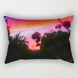 Sunset and Geraniums Rectangular Pillow