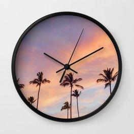 Palm Tree Walks in Kihei Wall Clock