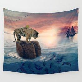 Tiger Drifting by GEN Z Wall Tapestry