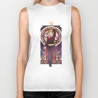 bad wolf Biker Tanks featuring Bad Wolf by Megan Lara