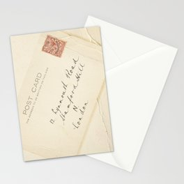 Retro post card  with address and stamp Stationery Cards