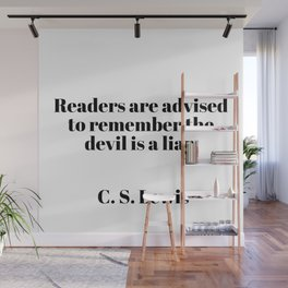 readers are advised - C.S. Lewis quote Wall Mural