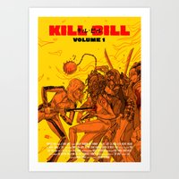 KILL BILL - the forth film by Quentin Tarantino Art Print
