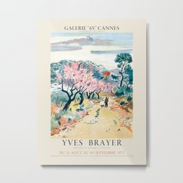 Yves Brayer. Exhibition poster for Galerie 65 in Cannes, France. 1972 Metal Print