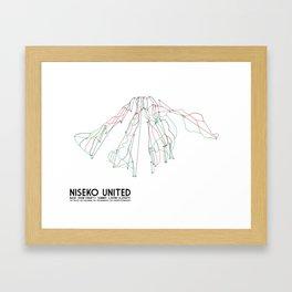Niseko United, Japan - Japan Edition - Minimalist Trail Art Framed Art Print