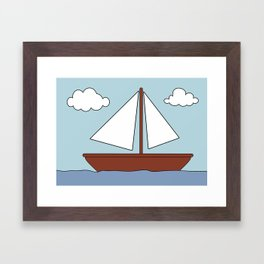 Simpsons Boat Picture Framed Art Print