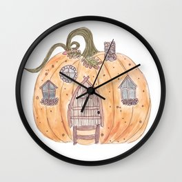 Pumpkin Cottage Wall Clock