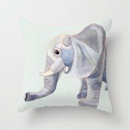 Cuddly Elephant II Throw Pillow