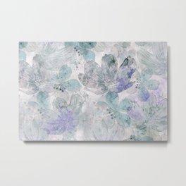 Nostalgic Pastel Flower Art Metal Print