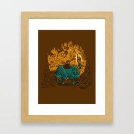THE ARCHEO-GAME-OLOGIST Framed Art Print