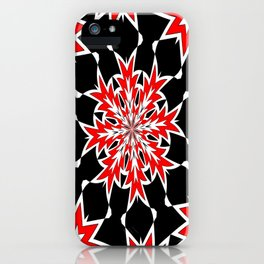 Bizarre Red Black and White Pattern 2 iPhone Case