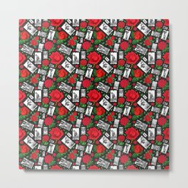 Tarot Cards and Roses - A Major Arcana Print Metal Print