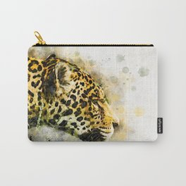Jaguar Watercolor Splash Carry-All Pouch