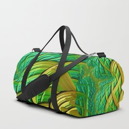 patterns green yellow string Duffle Bag
