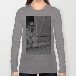 Farmer in Despair Over the Depression in 1932 Long Sleeve T-shirt