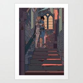 Secret and Sad farewell Art Print