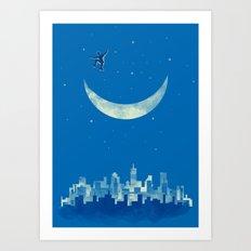 Moon Skater Art Print