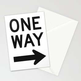 One Way Sign Stationery Cards