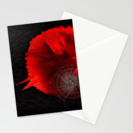 Diving in Red Stationery Cards