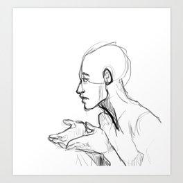 Gesture Art Print