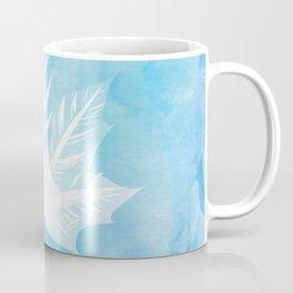 Fall Watercolor - Teal Leaf Coffee Mug