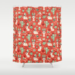 Cryptid Cuties: The Jackalope Shower Curtain