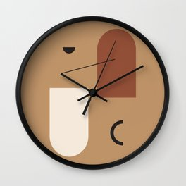 The window of the soul - Modern hand drawn abstract art illustration Wall Clock