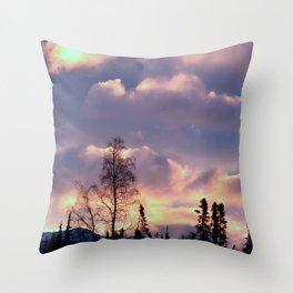 Rose Serenity Sky Throw Pillow