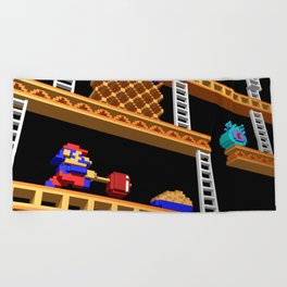 Inside Donkey Kong stage 2 Beach Towel