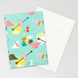 Pink Flamingo Cocktails Stationery Cards