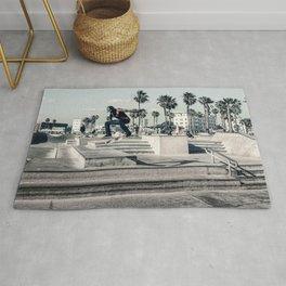 Miami Beach Skatepark Skateboarding poster Skateboarding print photography print Rug