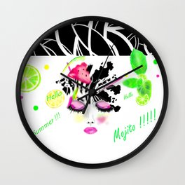 Hello Summer Wall Clock