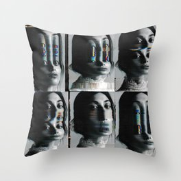 Scan experiment Throw Pillow