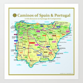 Caminos of Spain and Portugal Art Print