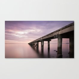 Sunrise by the Warf Canvas Print