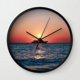 Cape May Sunset Cruise Wall Clock