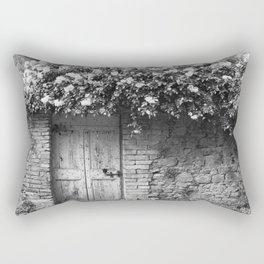 Old Italian wall overgrown with roses Rectangular Pillow