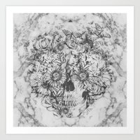 Bookmatched Skull Art Print